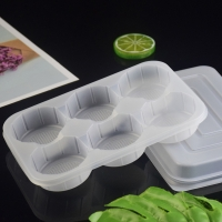 China White Rectangle 19*13*2.5cm Frozen Food Tray Packaging on sale
