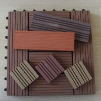 Wholesale Waterproof Embossing WPC Deck Tiles For Sunroom / Swimming Pool 300*300mm from china suppliers