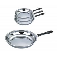 Buy cheap Food Grade 410 # Stainless Steel Non Stick Frying Pan Surface Mirror Polish from wholesalers