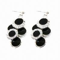 Wholesale Exquisite Stud Earrings, Suitable Party/Anniversary from china suppliers