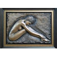 Wholesale Professional Metal Relief Sculpture , Nude Woman Wall Relief Sculpture from china suppliers