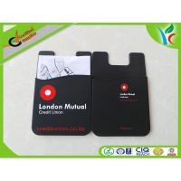 Buy cheap Durable Non-toxic Silicone Card Holder Silk Print Logo With Manual Paper from wholesalers