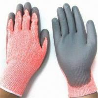 Wholesale Cut Resistant PU Coated Safety Gloves, Made of HPPE Knitted Lining from china suppliers