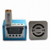 Wholesale Portable Stereo Mini Speaker with FM Radio Function and LCD, Made of Aluminum Alloy from china suppliers