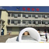 Wholesale White Air Tight Inflatable Event Tent , Diy Inflatable Tunnel Tent With LED from china suppliers