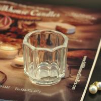 Wholesale Big octagon design candle holder glass replacement , 57ml candle holders glass decor from china suppliers