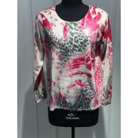 Wholesale Classic Women'S Pullover Sweater With Flower Screen Printing 12gg from china suppliers