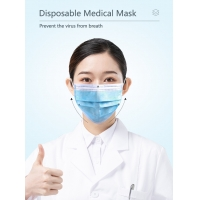 Wholesale BFE 99% Medical 3 Ply Antiviral Disposable Face Mask from china suppliers