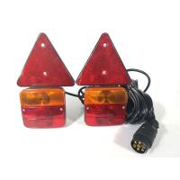 Wholesale Red Yellow Trailer Marker Lamps Stud Mount With Reflector And Magnet from china suppliers