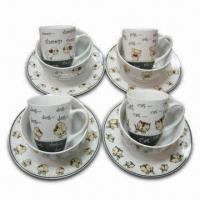 China Children Set, Made of Porcelain, Available in Cup, Bowl and Tray on sale