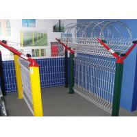 China Farm Field Powder Coated Mesh Fence , 4mm - 5mm Wire Highway Protection Airport Mesh Fence on sale