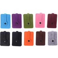 Wholesale Unisex Car Key Wallet Purse Felt Key Chain Bags 43 Colors Accept Customer Design from china suppliers