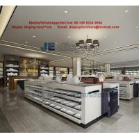 Wholesale Hotel supplies porcelain plate and bowl sales exhibition hall by white painting display counters and black metal racks from china suppliers