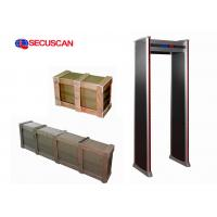 Wholesale 6-12-18 zones economical High sensitivity walk through metal detector for entrance security check from china suppliers