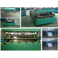 Color Steel Roof Panel Roll Forming Machine With 12-18 Forming Stations