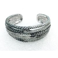 Wholesale (B-87)New Style Women's Jewelry Pave High Quality Cubic Zircon Crossover Cuff Bracelet from china suppliers