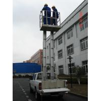 Quality Hydraulic Trailer Mounted Lift Double Mast Vertical Aerial Work Platform For for sale