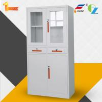 Buy cheap Metal storage cupboard FYD-W013:H1850XW900XD400mm, KD,glass and steel swing door from wholesalers
