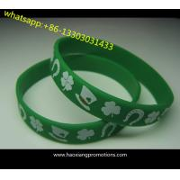 Hot Sale! No Minimum Custom Debossed and Ink Filled 1 Inch Silicone Wristbands for sale