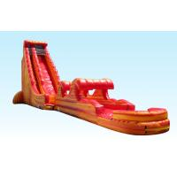 Wholesale Singel Lane 31ft Cali Flame Inflatable Water Slides Long Giant Shaped For Event from china suppliers
