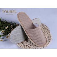 Wholesale Grid Colored Disposable Hotel Slippers Velour Material Closed Toe Slippers from china suppliers