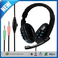 Wholesale Black Stereo Gaming Headphones Earbuds Blue Soft PU Leather from china suppliers