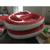 China Screen Printing Inflatable Water Parks , 4m Diamter 2 Seats PVC Inflatable Boat on sale