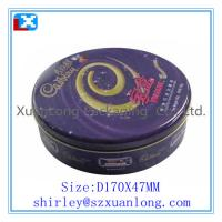 Wholesale metal round cookie storage tin box from china suppliers