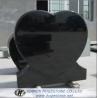 Black Heart Shaped Granite Tombstone, High Polished Black Granite Monuments for sale