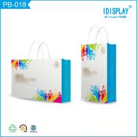 Buy cheap Bright Blue Paper Gift Bags , Cardboard Small Paper Favor Bags Packaging For Baby Clothes from wholesalers