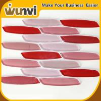 Wholesale Red Mix White Glass Mosaic Tiles Water Jet Backspash , Strip mosaic kitchen tiles from china suppliers