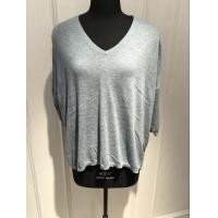 Wholesale Grey V Neck Sweater Women'S , Cashmere Ladies Sweaters With Bead Decoration from china suppliers