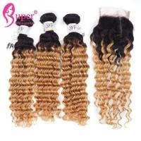 Soft Ombre Brazilian Hair Weave / Dark Brown Ombre Hair Extensions for sale