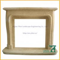 Wholesale Best Design Carved Yellow Fireplace Shelf from china suppliers