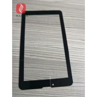 China 8inch cover glass 1.1mm chemically strengthened black color printed with 2.5D edges for industrail PC touch panel for sale