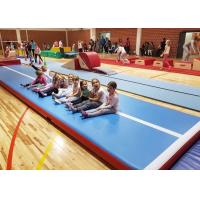 Wholesale Outdoor Inflatable Air Track Gymnastics Mat / Inflatable Bouncing Mat Customized from china suppliers