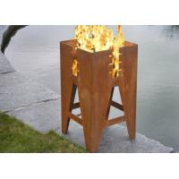Wholesale Durable Outdoor Corten Steel Fire Pit Barbecue Customized Size Available from china suppliers