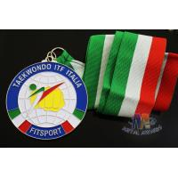 Buy cheap Taekwondo Racing Marathion Swiming Custom Sports Medals Soft Enamel Transparents Color from wholesalers