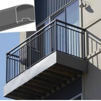 Wholesale Outdoor Aluminum Hand Railings For stairs , exterior hand railings from china suppliers