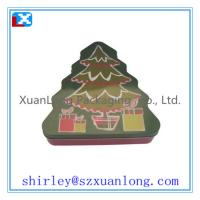 Wholesale Tree Shape Christmas Cookie Candy Tin Box Wholesale from china suppliers
