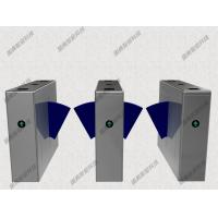Quality Double Wing IR Sensor Flap Barrier Gate Card Reader Or Push Button Turnstile for sale