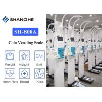 China ultrasonic digital balance coinoperated height and weight scale for human blood pressure weighing scale on sale