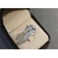 Wholesale 1.27ct Diamond 12g Bulgari Serpenti Ring 18k White Gold copy brand jewelry from china suppliers