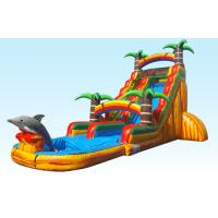 Wholesale Barry PVC Material Inflatable Water Slides 22FT Tropical Paradise With Silk Printing from china suppliers
