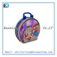 Wholesale Apple shape lunch tin box with plastic handle and lock from china suppliers