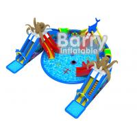 Wholesale Giant Octopus Water Amusement Park , Portable Blow Up Water Park With Floating Toys from china suppliers