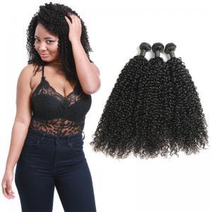 Wholesale Natural Black Virgin Curly Hair Bundles / Curly Weave Human Hair 3 Bundles from china suppliers