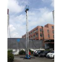 Wholesale 14 Meter Aluminum Alloy Aerial Work Platform Blue Color For Window Cleaning from china suppliers