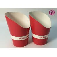 Wholesale 9oz Height 120mm French Fries Cup , Double PE Coated Hot Chip Cup from china suppliers