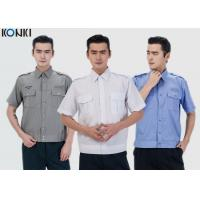 Quality Durable Police And Security Guard Uniform Mens Shirts With Two Pockets for sale